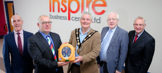 Defibrillator Donated to Business Centre in Dundonald