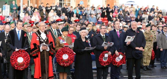 Centenary Armistice Marked in Remembrance Service in Lisburn