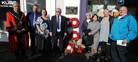 Memorial Plaque rededicated as 30 years of Lisburn Bombing Atrocity is Remembered