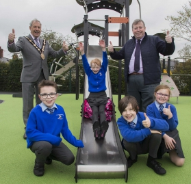 Swing by the newly refurbished Lambeg Play Park!