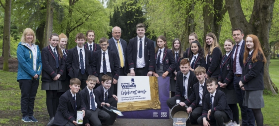 Wallace Pupils Sow Flowers in Wallace Park