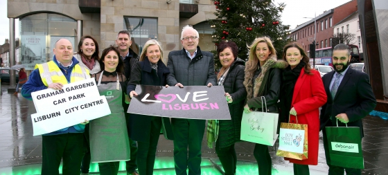 Lisburn City Centre Businesses Award Christmas Gift to Competition Winner