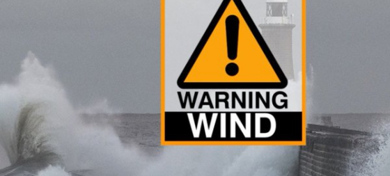 Amber Weather Warning in Place Monday 16th October