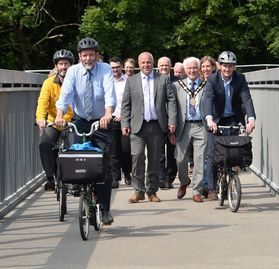 Comber Greenway Bridge Opens