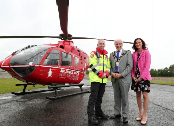 Mayor Givan's Charity the Air Ambulance for Northern Ireland