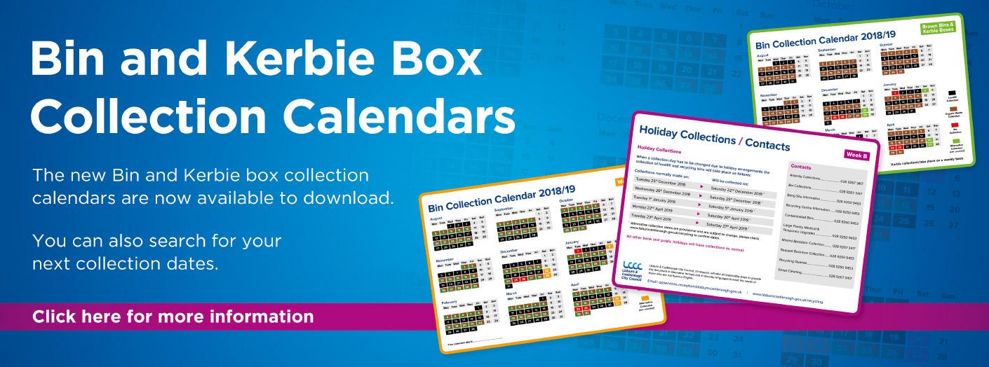 Bin Calendars 2018/19