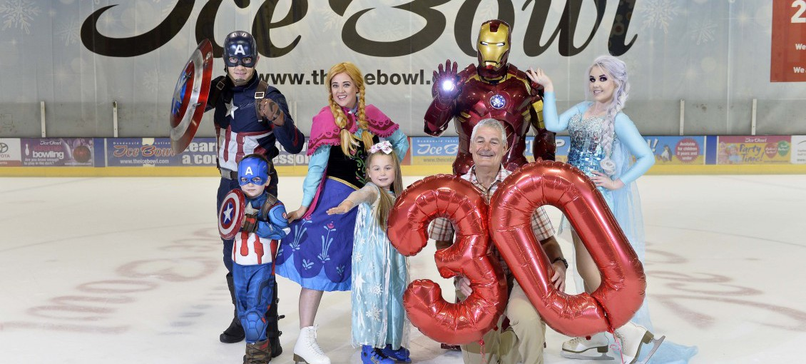 Superheroes and Princesses fly in for 30th Birthday Celebrations