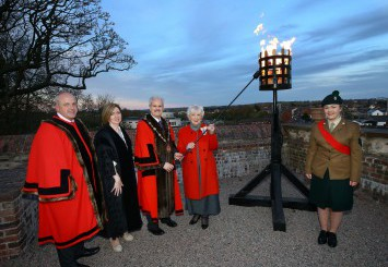 Beacon Ligting in Castle Gardens