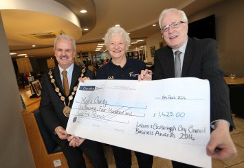 £2,850 was raised by local businesses for two worthwhile charities