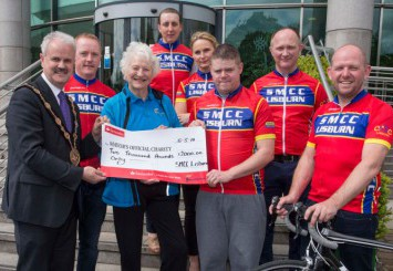 Saturday Morning Cycle Club donates £2,000 to both the Mayor's Charity and Parkview Special School