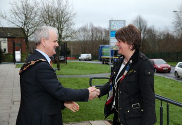 Mayor welcomes the First Minister to Lisburn