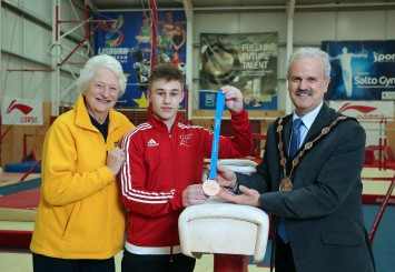 Local gymnast, Ewan McAteer won a Bronze Medal at the recent British Gymnastics Championships
