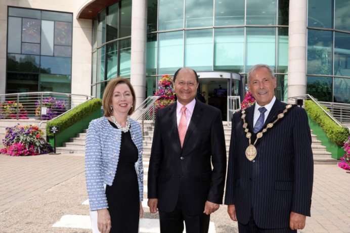 Mr Shailesh Vara MP welcomed to Lagan Valley Island