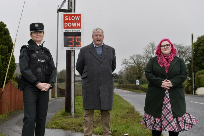 Six new speed indicator signs installed at community concern sites