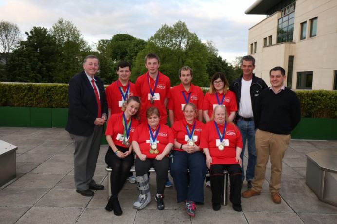 Council Hosts Reception for Special Olympian Badminton Players