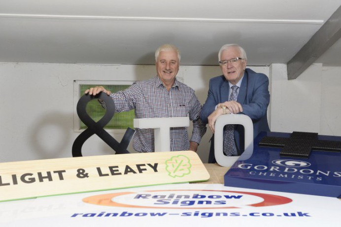 Lisburn based Rainbow Signs - Lighting up the skies with new sales