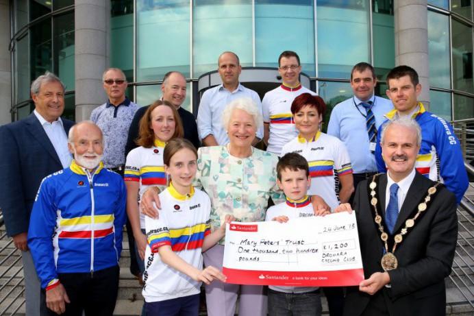 Dromara Cycling Club raises £1,200 for Mayor's Charity
