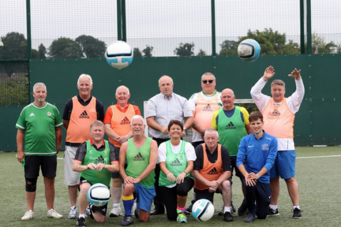 Walking Football Kicks Off at Lagan Valley LeisurePlex