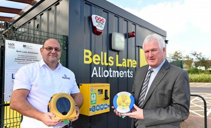 Council installs defibrillator at Bells Lane Allotments