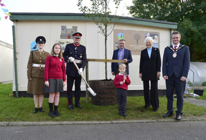 Fort Hill Integrated Primary School is home to the Lisburn tree in the Queen's Green Canopy