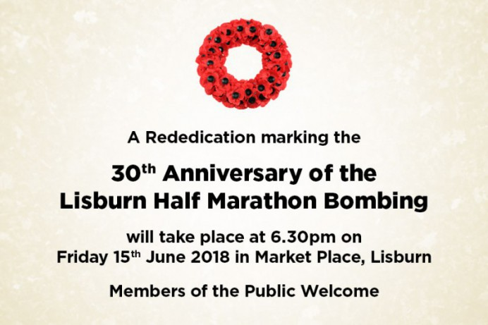 Council to Mark 30th Anniversary of Half Marathon Bombing in Lisburn
