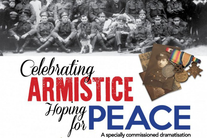Free tickets for Performance by Philip Orr to mark the end of World War 1, Saturday 1st December, 7pm