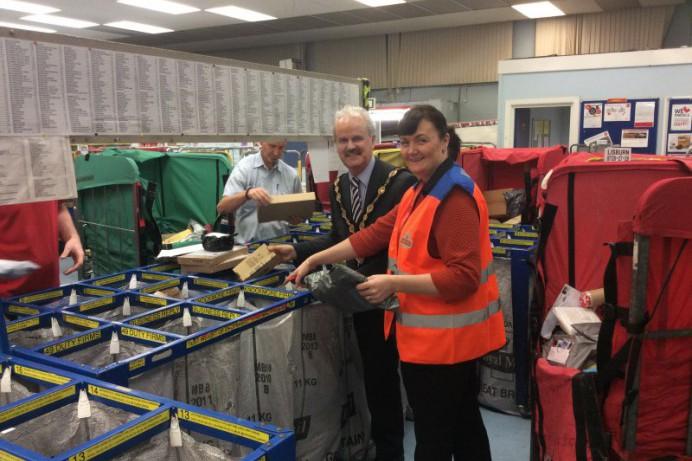 Mayor Visits Local Royal Mail Sorting Office - Lisburn Castlereagh