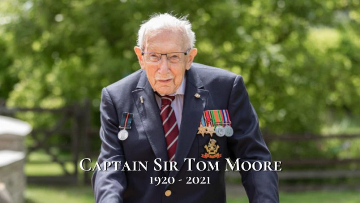 Online book of condolence for Captain Sir Tom Moore