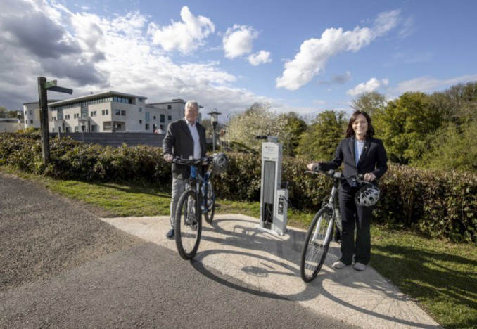 Mallon welcomes new bicycle repair station on Lagan Towpath at Lisburn
