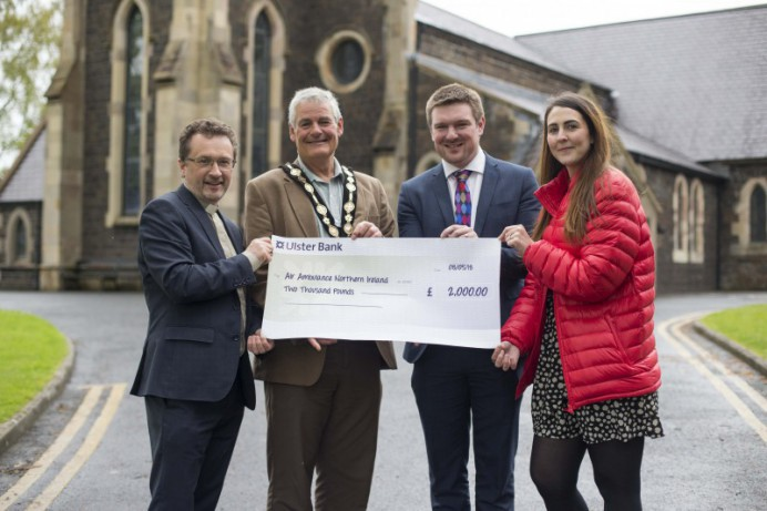 Air Ambulance NI Receives Generous Offering From Honorary Church Service