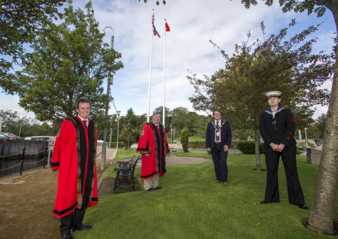 Council flies the Red Ensign flag for Merchant Navy Day