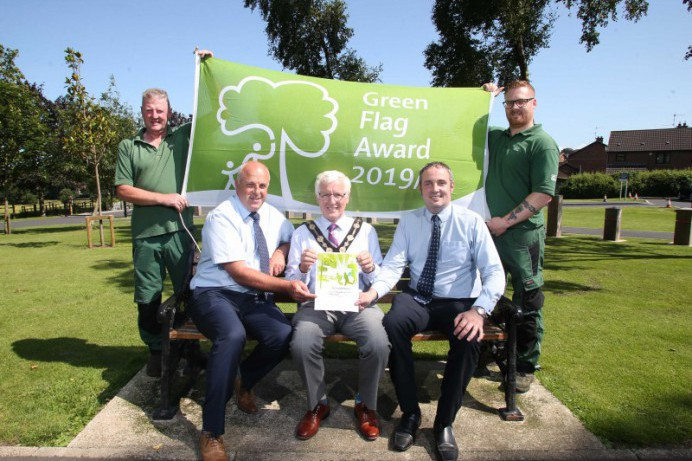 Council flies the flag for its award-winning parks