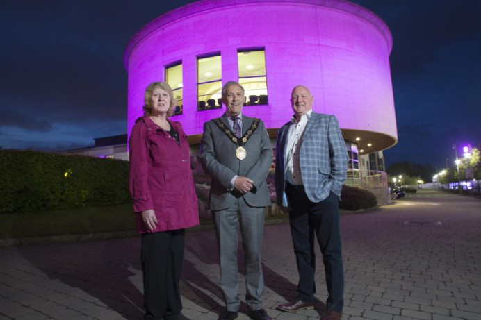 Lagan Valley Island lights up for Huntington's Disease Awareness