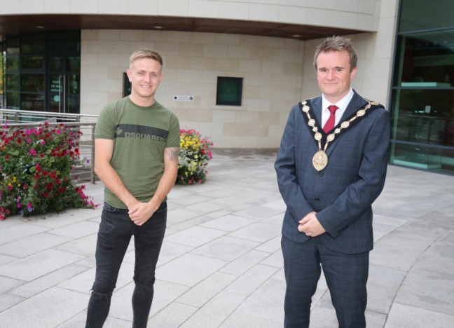 Mayor Martin marks success of local Olympic boxer