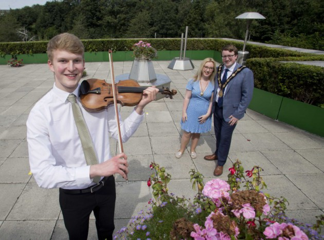 Mayoral reception for Lisburn musician Jamie Howe