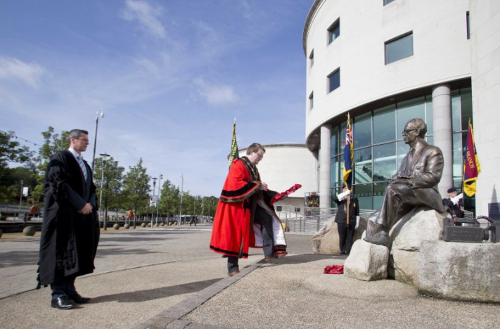 NMBVA Wreath laying ceremony in memory of Professor Frank Pantridge