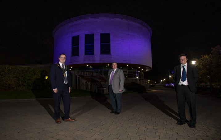 Council headquarters light up purple for pancreatic cancer