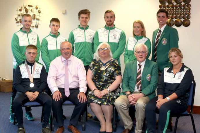 Council hosts Reception for Commonwealth Games Team