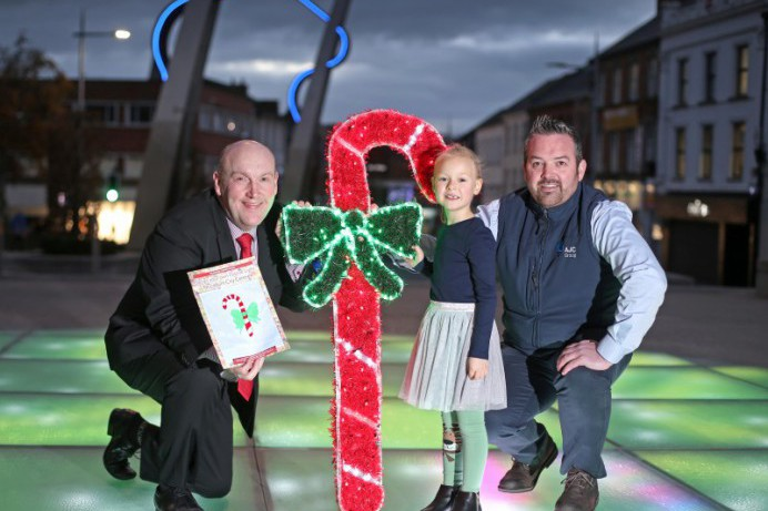 Taja adds her own Christmas sparkle to Lisburn