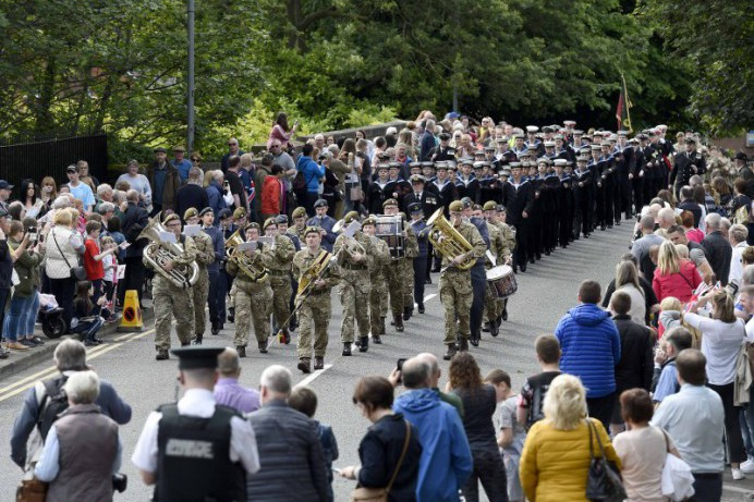 Lisburn Awash With Colour And Music To Celebrate Armed Forces Day NI