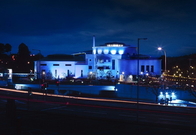 Lagan Valley Island shines blue to celebrate 75 years of the UN