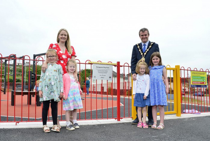 Revamped and relocated play park opens in Ballybeen
