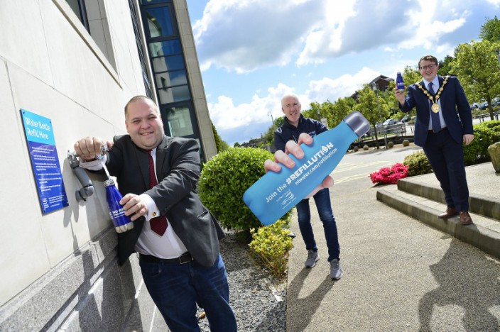 New Water Refill Station installed at Lagan Valley Island