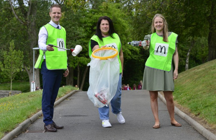 Council shows support for McDonald's  '30 NI Parks in 30 Days' Litter Campaign