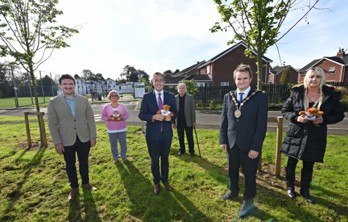First Minister joins Mayor of Lisburn & Castlereagh at Centenary Tree Location