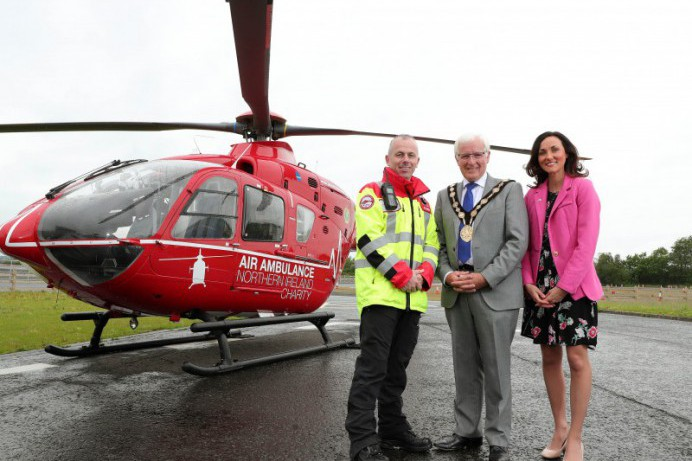 Mayor's Soaring Support for Air Ambulance Northern Ireland