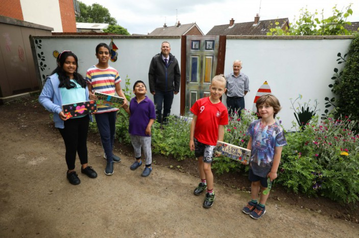 Lisburn street gets brightly-coloured makeover by local resident