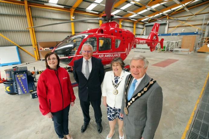 Former Mayor and Mayoress Visit Air Ambulance HQ