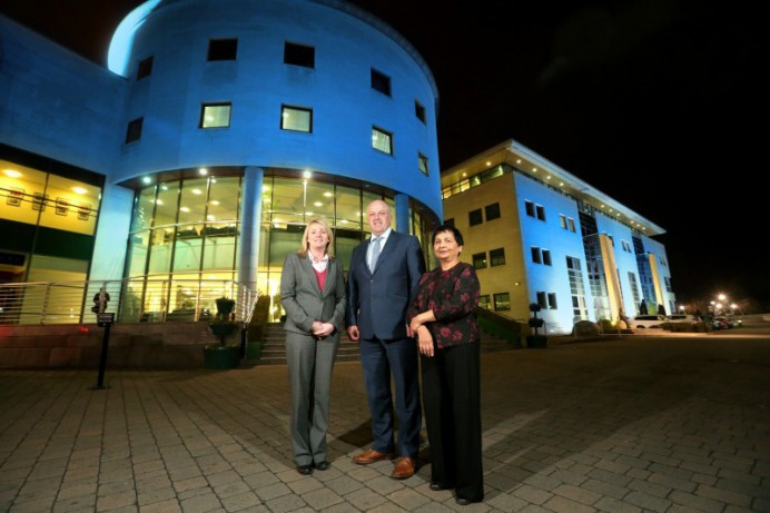 Lagan Valley Island lit up to mark World Down Syndrome Day