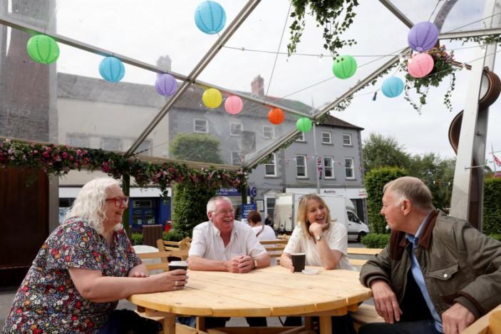 Enjoy the sunshine in Lisburn's revamped alfresco parklet!